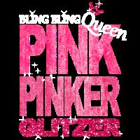 Bling Queen Pink Glitzer Prinzessin Geburtstag