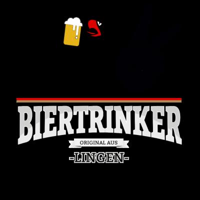 Bier aus Lingen Deutschland - Original Biertrinker aus Lingen in Deutschland. - wm,schwarz,rot,orginal,gold,fussballtrikot,fussball,fussball,fun,cool,cool,bestseller,Weltmeisterschaft,Trikot,Stadt,Schland,Party,Lingen,Fußball,Deutschland,Deutscher,Deutsch,Biertrinker,Bier,BRD