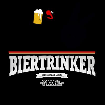 Bier aus Marl Deutschland - Original Biertrinker aus Marl in Deutschland. - wm,schwarz,rot,orginal,gold,fussballtrikot,fussball,fussball,fun,cool,cool,bestseller,Weltmeisterschaft,Trikot,Stadt,Schland,Party,Marl,Fußball,Deutschland,Deutscher,Deutsch,Biertrinker,Bier,BRD