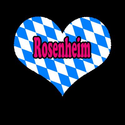 Love Bayern Stadt Rosenheim - Love Bayern Stadt Rosenheim - love,i,gifts,fußball,deutschland,bundesländer,Zugspitze,Weihnachten,Stuttgart,Stadt,Schwaben,Rosenheim,Pfalz,Oktoberfest,Love,Geschenke,Germany,Freistaat,CSU,Bayern,Alpen