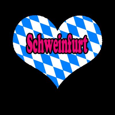 Love Bayern Stadt Schweinfurt - Love Bayern Stadt Schweinfurt - love,i,gifts,fußball,deutschland,bundesländer,Zugspitze,Weihnachten,Stuttgart,Stadt,Schweinfurt,Schwaben,Pfalz,Oktoberfest,Love,Geschenke,Germany,Freistaat,CSU,Bayern,Alpen