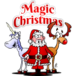 Magic Christmas unicorn