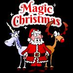 Magic Christmas unicorn