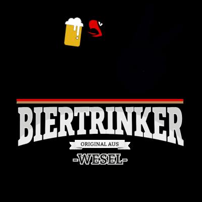 Bier aus Wesel Deutschland - Original Biertrinker aus Wesel in Deutschland. - wm,schwarz,rot,orginal,gold,fussballtrikot,fussball,fussball,fun,cool,cool,bestseller,Wesel,Weltmeisterschaft,Trikot,Stadt,Schland,Party,Fußball,Deutschland,Deutscher,Deutsch,Biertrinker,Bier,BRD