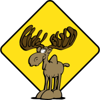 Vorsicht Elch Moose