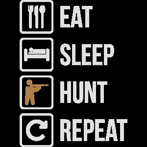 Eat Sleep Hunt Repeat Guns