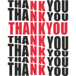 "Motyw z napisem ""Thank You"""