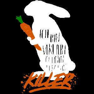Kaninchen Karotten Killer - lustiges Hase Geschenk