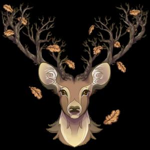 Hirsch im Herbst