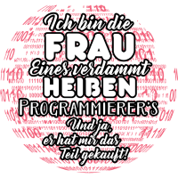 Frau eines Programierers