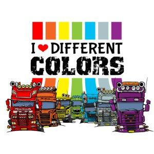 Ich liebe verschiedene Farben LKW