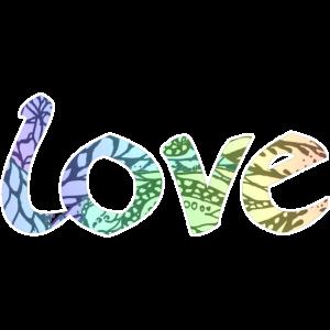 love romantische Schrift für Verliebte