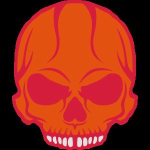 unheimlich Tod Kopf Halloween-Schädel Zeichnung 2805