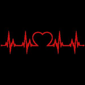 Herzschlag Herz EKG Liebe Herzklopfen rot