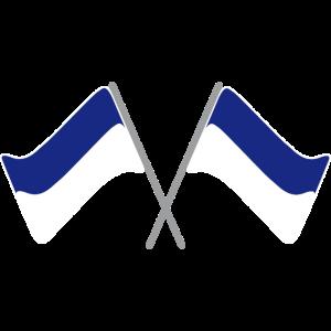 Fahne blau-weiss | Flagge | Fußball | Stadion