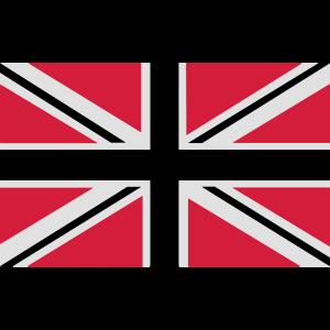 Union Jack | schwarz-weiss-rot | Fahne | Flagge