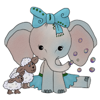 Elefant mit Schafen.png