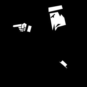 Spion mit Hut