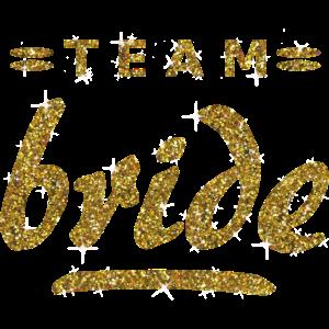 Team Bride Luxus Gold Junggesellinnenabschied