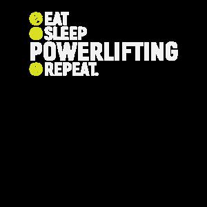Essen, schlafen, Power lifting, wiederholen