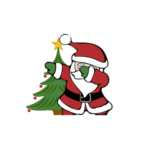 Ugly Christmas Sweater Santa Dab