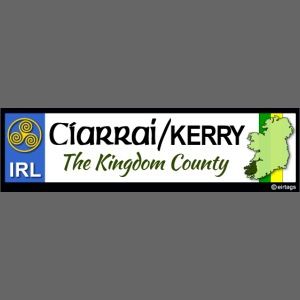 CO. KERRY, IRELAND: licence plate tag style decal