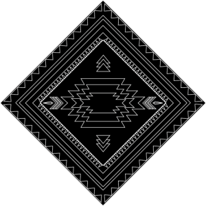 native american style pattern black/white