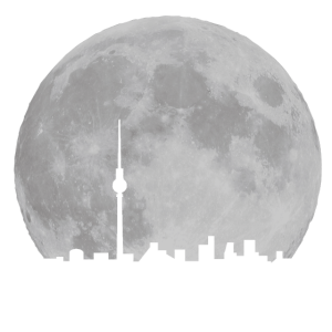 Berlin Skyline vor Mond-vollmond,skyline,nacht,fernsehturm,berlin,Mond,Himmel,Alexanderplatz-