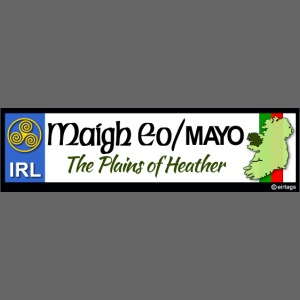 CO. MAYO, IRELAND: licence plate tag style decal