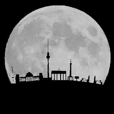 Berlin Skyline vor Mond Fernsehturm Bundestag Weltzeituhr Oberbaumbrücke Brandenburger Tor Funkturm - Berlin Skyline vor Mond mit Fernsehturm Bundestag Weltzeituhr Oberbaumbrücke Brandenburger Tor Funkturm - skyline,oberbaumbrücke,nacht,fernsehturm,city,bundestag,berlin,WELTZEITUHR,Mond,Hauptstadt,Funkturm,Brandenburger Tor