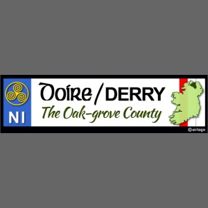 DERRY, NORTHERN IRELAND licence plate tags decal