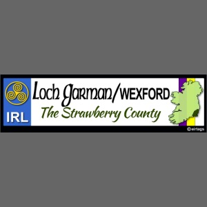 WEXFORD, IRELAND: licence plate tag style decal eu