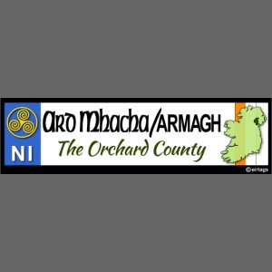 ARMAGH, NORTHERN IRELAND licence plate tags decal
