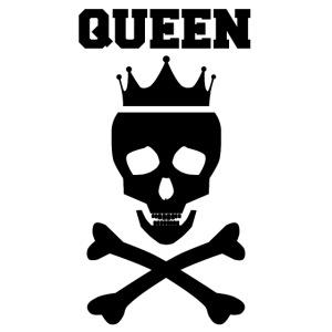 Queen Totenkopf Krone Pärchen Partnerlook