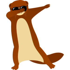 Dabbing Otter With Sunglasses - Cool Gift
