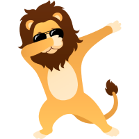 Dabbing Lion With Sunglasses - Cool Gift