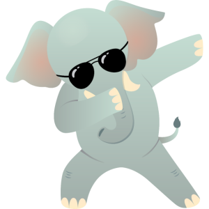 Dabbing Elephant With Sunglasses - Cool Gift