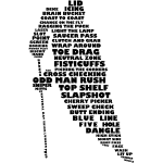 Hockey Player Typography (Black Print)