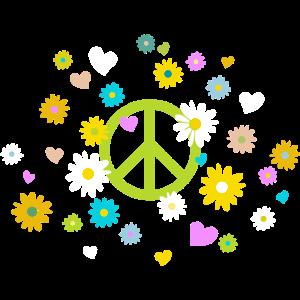 Peace-Zeichen Blume Herz flower power Valentinstag