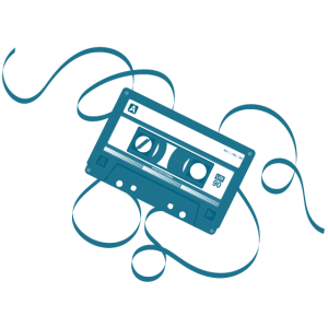 Kassette Blau - 80s Tape