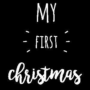 my first christmas - weiß