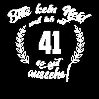 41 Geburtstag Spruch Geschenk T shirt
