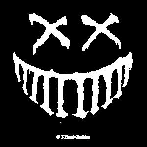 Gruseliges Lächeln Weiß