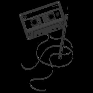 Kassette schwarz - 80s