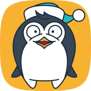 Niedlicher Pinguin flach freexmas17mnr