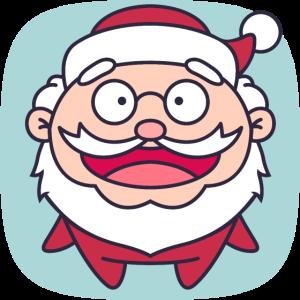 Cute Santa flat freexmas17mnr