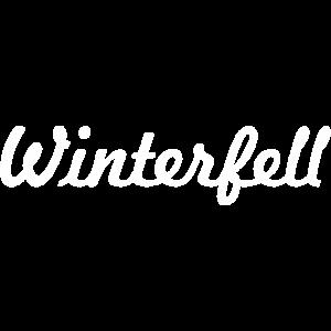 Winter, Schriftzug Winterfell weiss