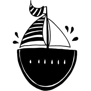 Lustige Melone Segelboot Individuelles Geschenk