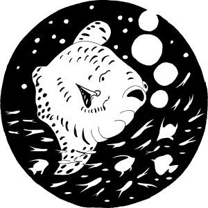 Mondfisch Big Fisch Illustration Geschenk