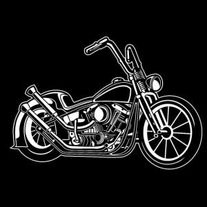 Chopper / Bobber Motorrad 02 schwarz weiß